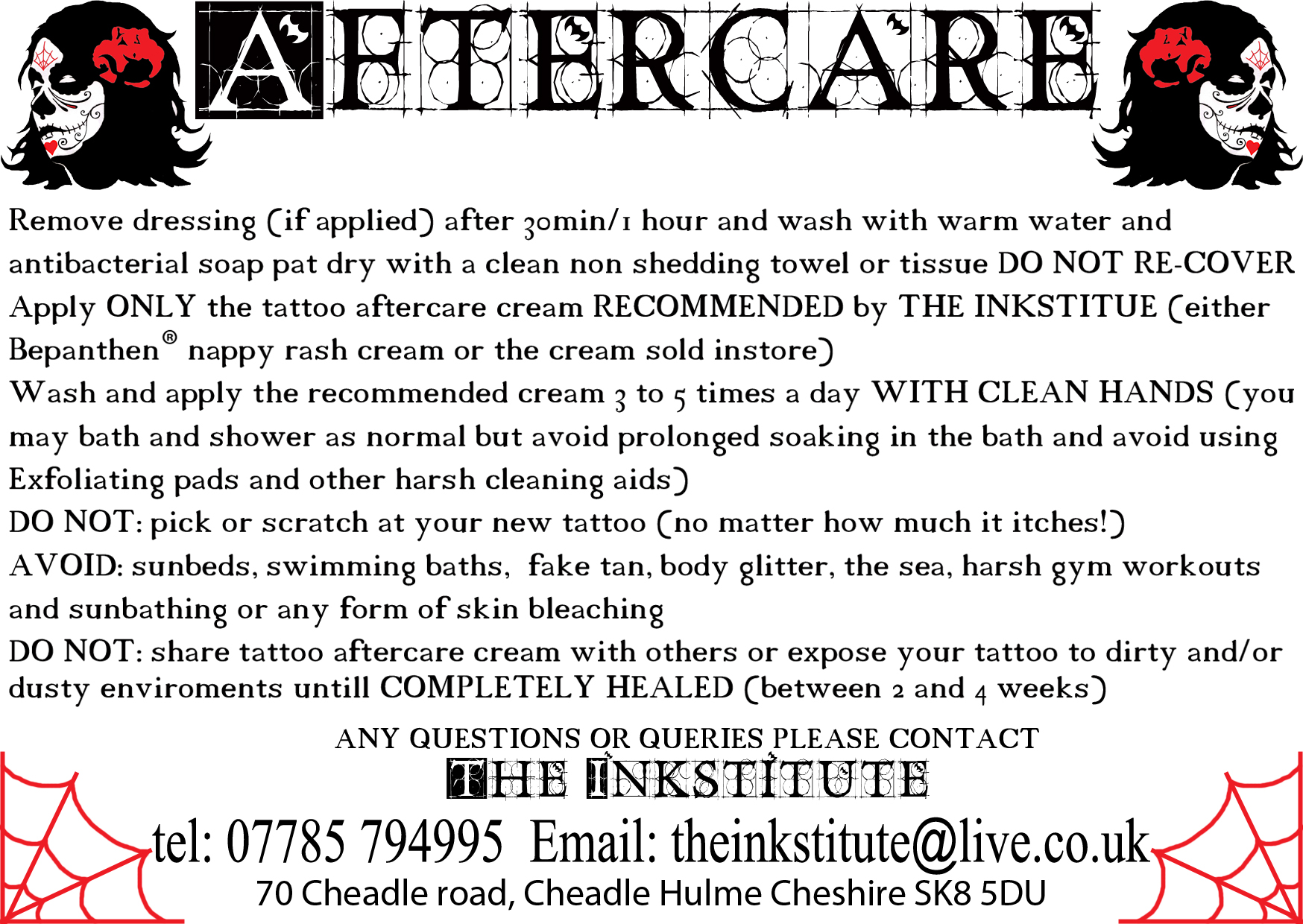 tattoo after care advice manchester tattoo studio